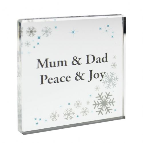 Personalised Snowflake Small Crystal Token